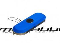ds-0012 plastikowo aluminiowy pendrive usb z zatyczką