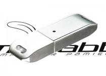 ds-0020 srebrny model usb z zatyczka duza powierzchnia pod logo firmowe
