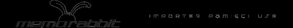 Logo Memorabbit producenta pendrive'ow z nadrukiem oraz grawerem