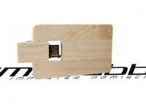 ds-0413 drewniana karta usb kredytowa