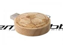 ds-0417 okrągły drewniany usb pendrive
