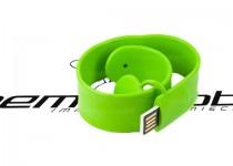 ds-1203 gumowa bransoletka na rękę składana z pamięcią usb